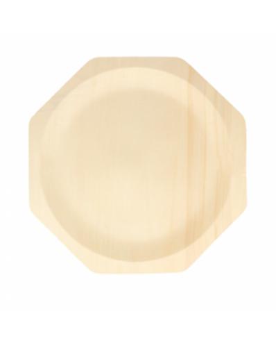 Prato de madeira Octogonal 1