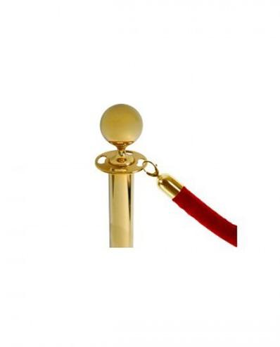 Cordão para poste dourado corda veludo
