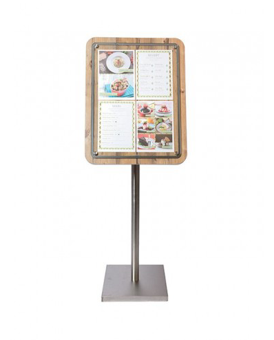 Expositor Menus Glass Star