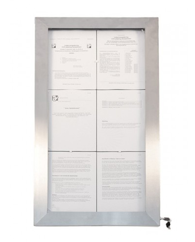 Expositor Menus Stainless Steel